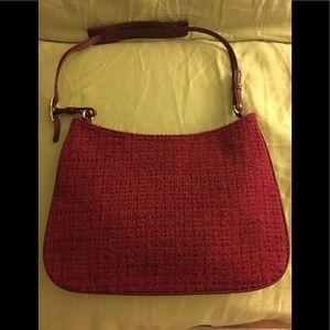 Vintage COACH Wool Tweed & Leather Bag